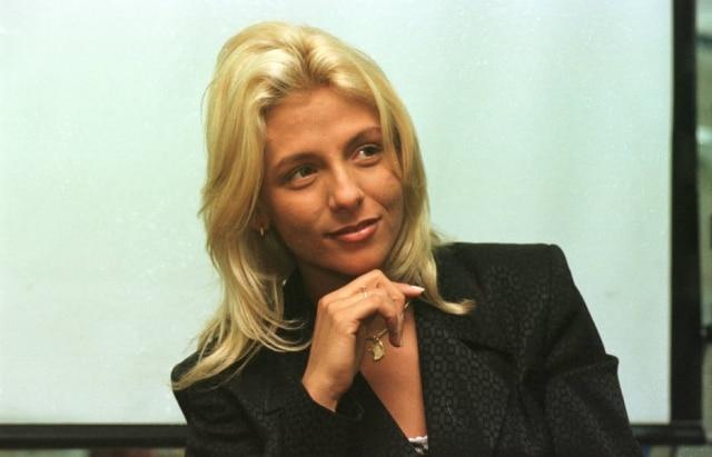 Carla Perez em 28 de maio de 1998, pouco depois de sairdo grupo É o Tchan