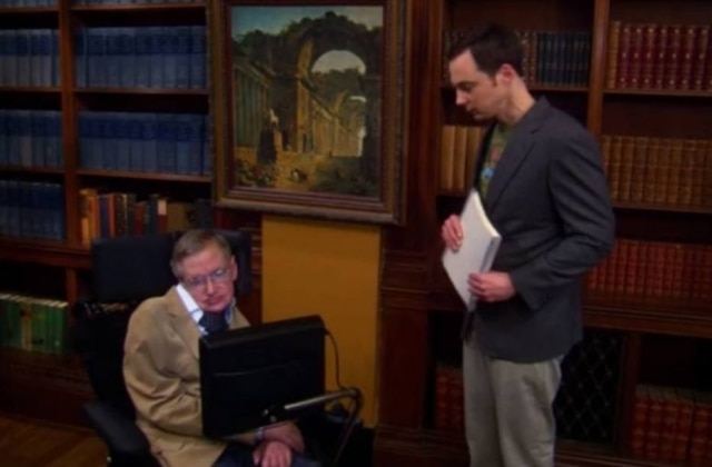 Stephen Hawking participou sete vezes de 'The Big Bang Theory'.