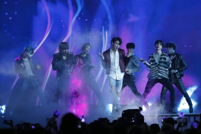 A principal boybad do K-pop, o BTS, em show no Billboard Music Awards 2018