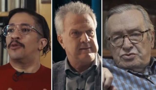Jean Wyllys, Pedro Bial e Olavo de Carvalho