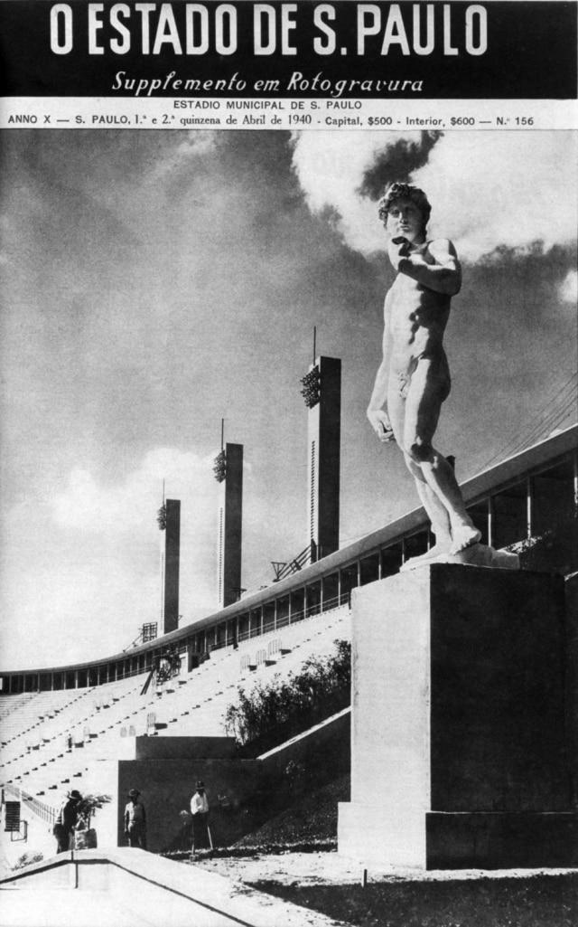Estádio do Pacaembu, em abril de 1940