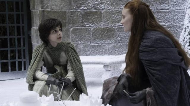 Lino Facioli em cena com Sophie Turner em 'Game of Thrones'