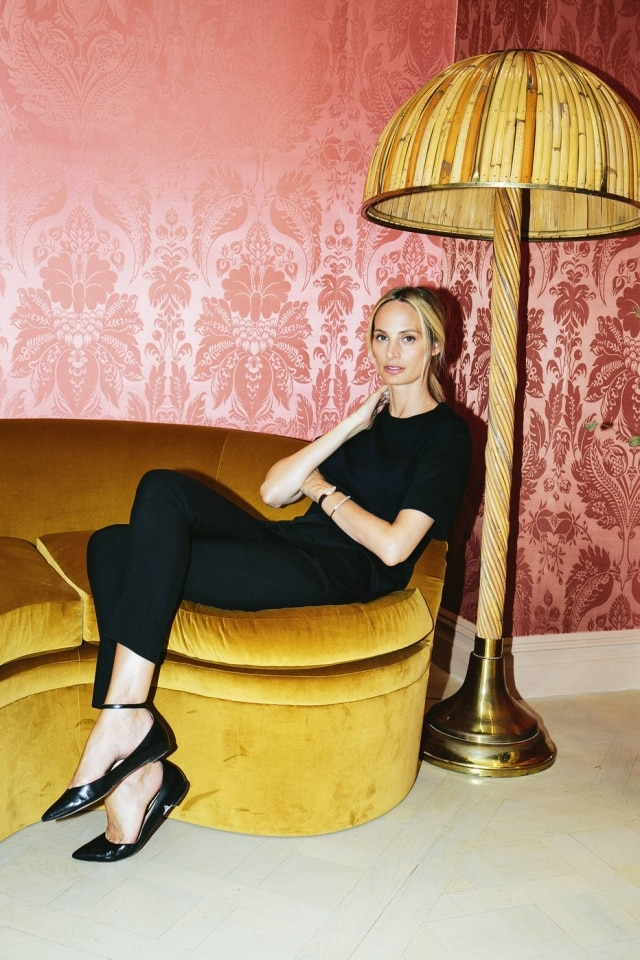 Lauren Santo Domingo no showroom da Moda Operandi.
