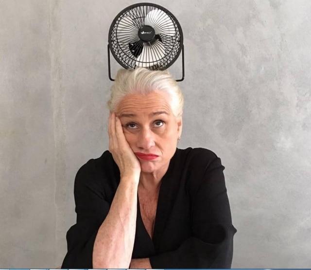 A atriz Vera Holtz explora a criação em suas fotos no Instagram