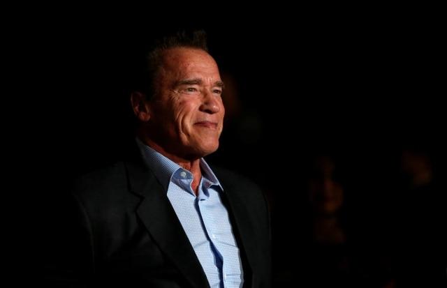 O ator Arnold Schwarzenegger.