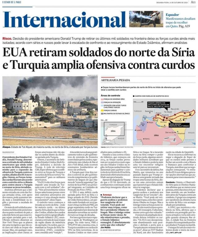 > Estadão - 14/10/2019