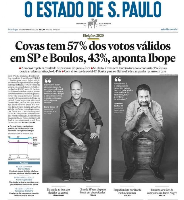 >> Estadão - 29/11/2020