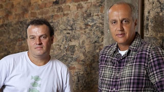 Os curadores da mostra, Marcelo Vasconcellos e Alberto Vicente