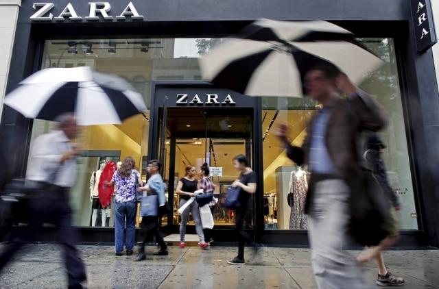 A Zara possui lojas em mais de 75 países.