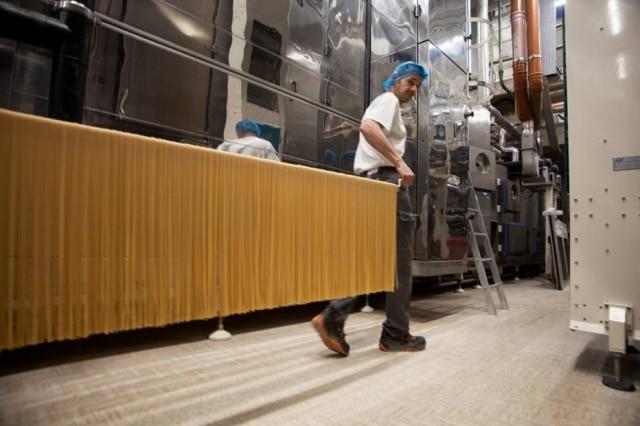 A produção da massa Monograno, do Pastificio Felicetti