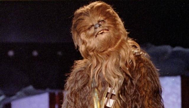 Personagem 'Chewbacca' em cerimônia do MTV Movie Awards em 1997.