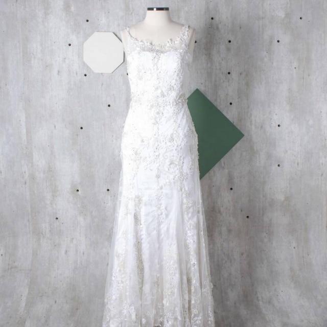 Fiorella escolheu uma peça da marca brasileira Martu para o seu casamento