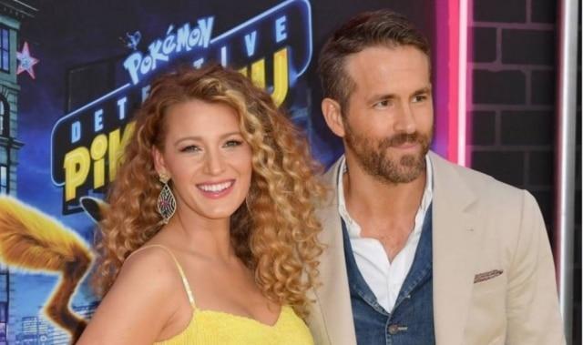 A atriz Blake Lively e o maridoRyan Reynolds na pré-estreia do filme 'Detetive Pikachu'.