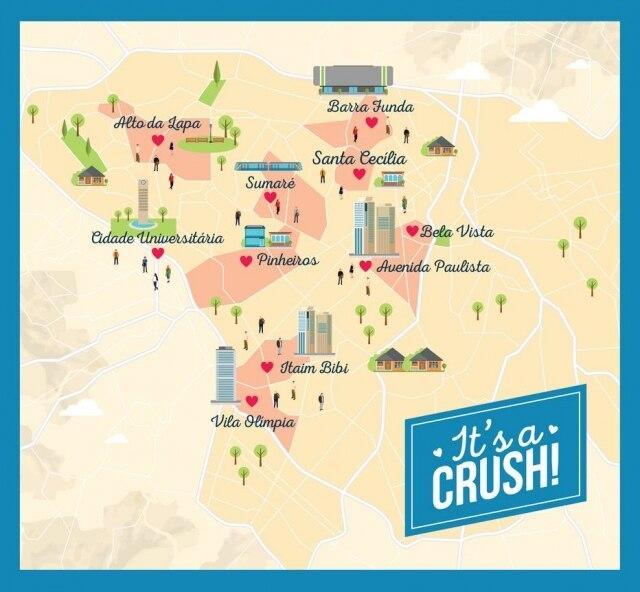 Confira quais são os bairros de São Paulo em que há maior probabilidade de encontrar um 'crush'
