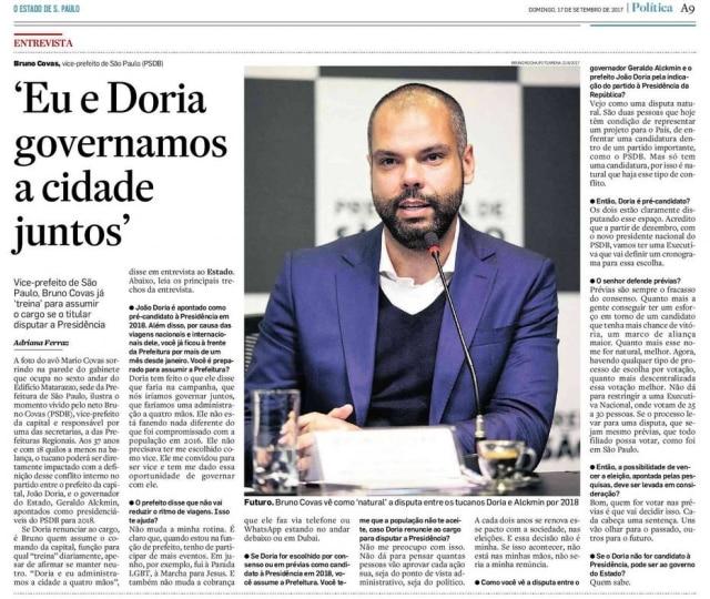 >> Estadão - 17/09/2017