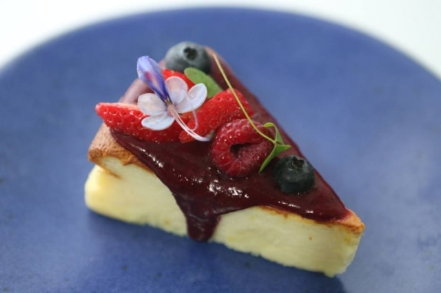 Soufflée cheesecake da Vivi. Menos açúcar e textura mais leve que a versão tradicional