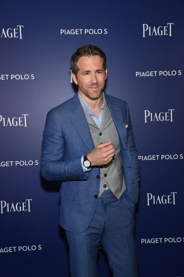 Ryan Reynolds no evento da Piaget em Nova York