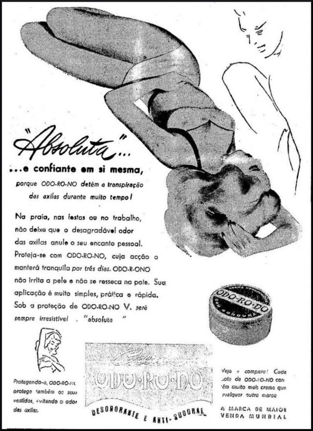 Anúncio docosmético Odorono, publicado no Estadão de 14/5/1948