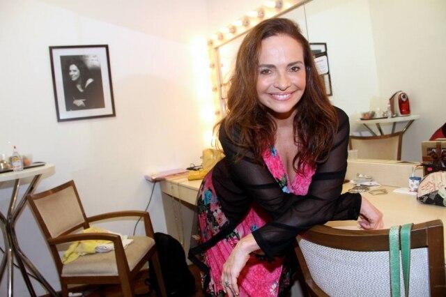 A atriz Luiza Tomé.