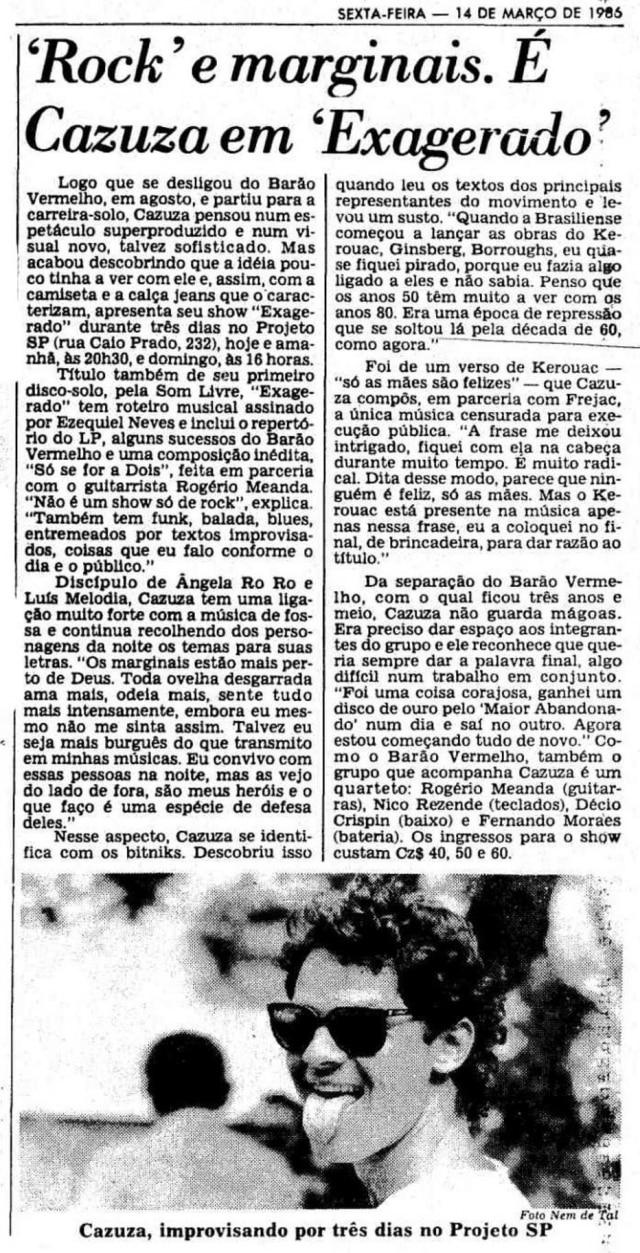 O Estado de S.Paulo - 14/3/1986