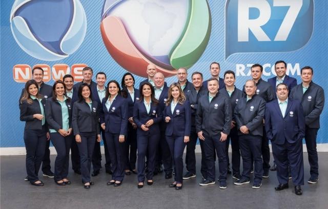 O uniforme olimpíco da Record também seguiu uma linha conservadora