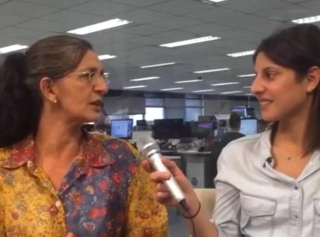 A colunista Neide Rigo e a repórter Renata Mesquita.