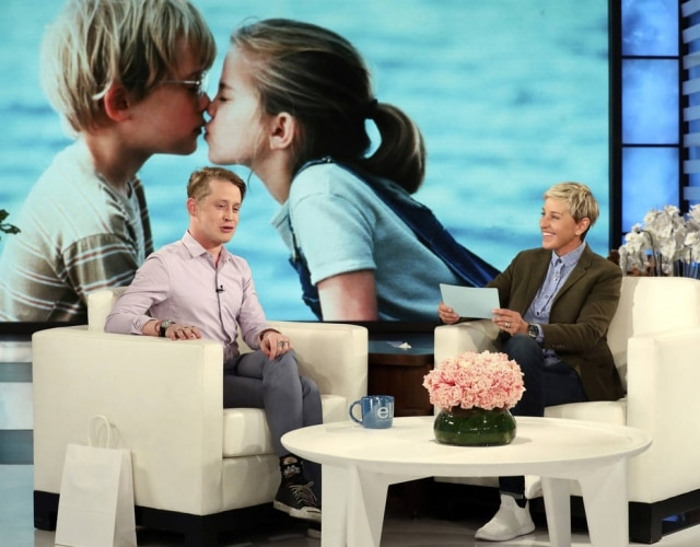 O ator Macaulay Culkin durante as gravações do programa de Ellen DeGeneres que vai ao ar nesta segunda-feira, 23.