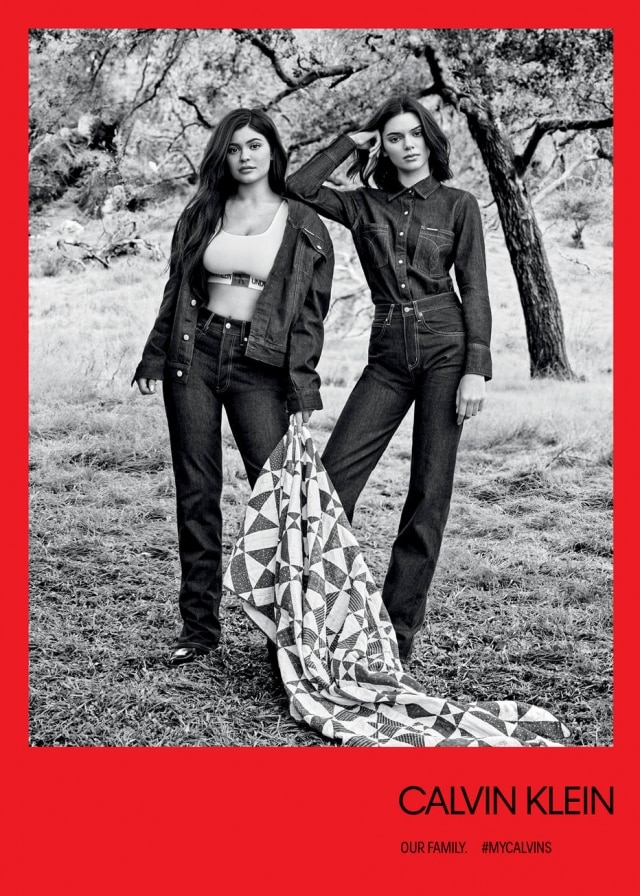 Kylie e Kendall Jenner na campanha da Calvin Klein