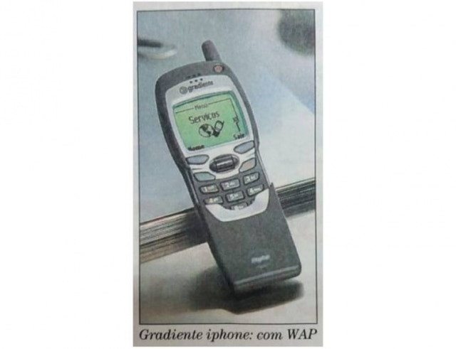 Iphone da Gradiente no jornal.