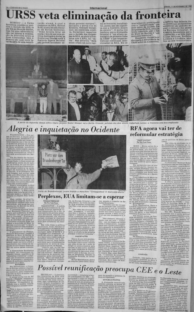 O Estado de S.Paulo - 11/11/1989
