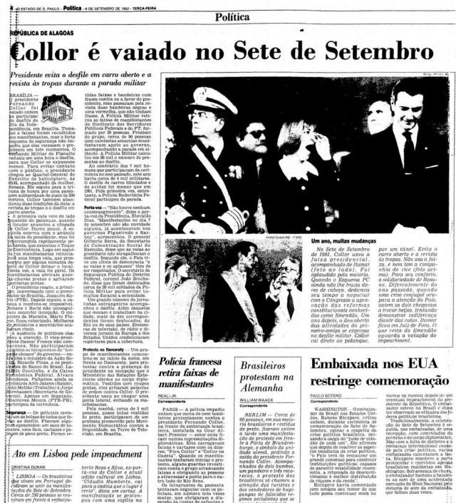 > Estadão - 08/9/1992