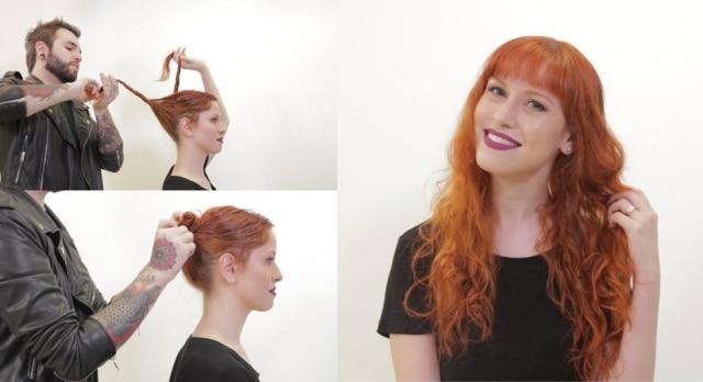 A técnica de 'no blow dry hair' indica fazer penteados como coques - que podem ser altos, baixos e duplos - e tranças com os cabelos úmidos