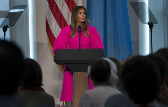 A primeira dama dos Estados Unidos Melania Trump foi ironizada por usuários do Twitter após um discurso anti-bullying que fez na Assembleia Geral da ONU.