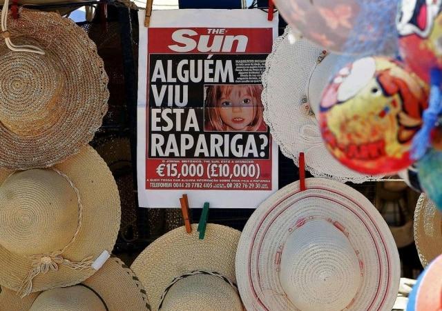 Madeleine McCann desapareceu em Portugal em 2007.