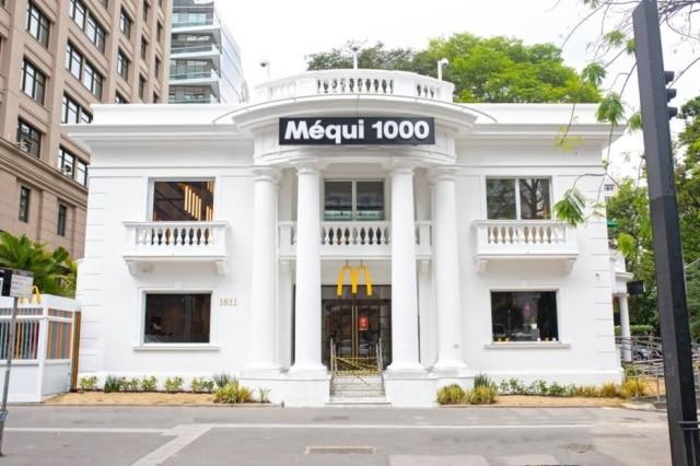 Fachada do milésimoMcDonald's no Brasil, que fica na avenida Paulista, em São Paulo.