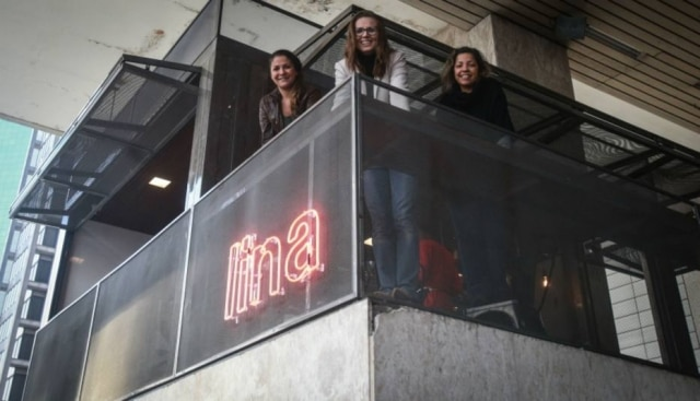 O trio. As sócias do novo Lina Café na Paulista