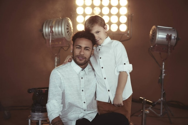 Neymar e Davi Lucca são os protagonistas da campanha de Dia dos Pais