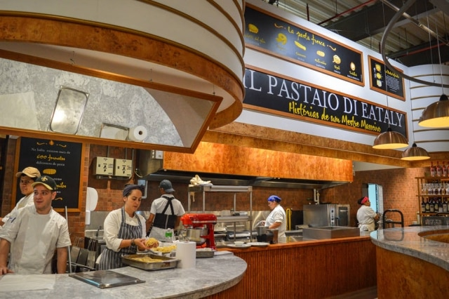 Ambiente do Il Pastaio di Eataly, novo restaurante do complexo.