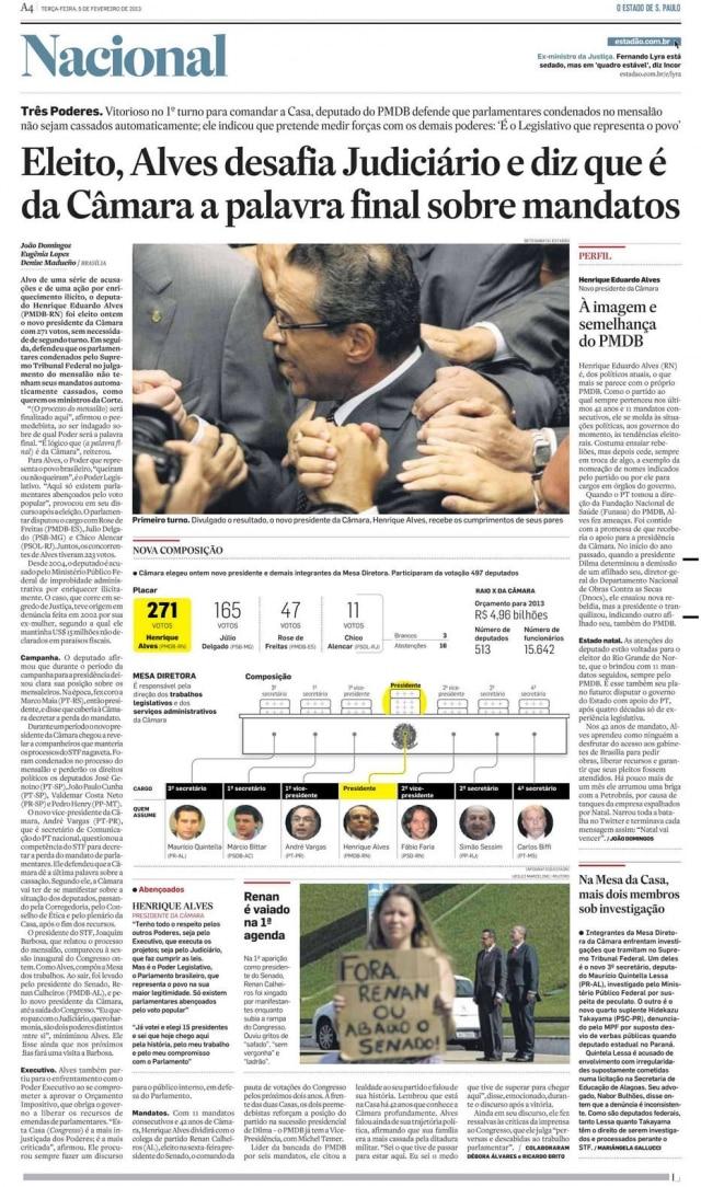 > Estadão - 05/02/2013