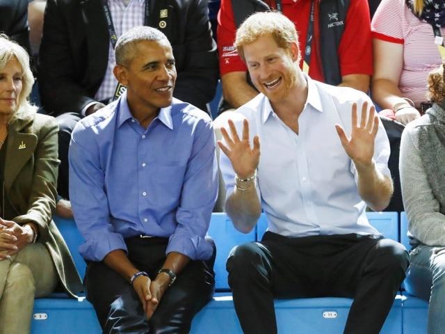 Barack Obama e príncipe Harry.