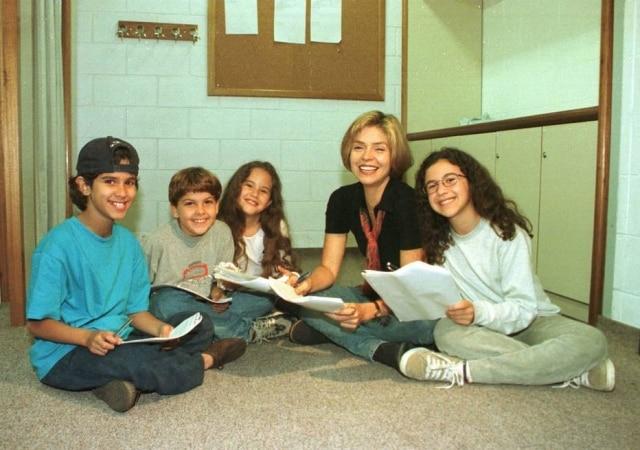 Atores da novela'Meu Bem Querer', em foto de 1998.
