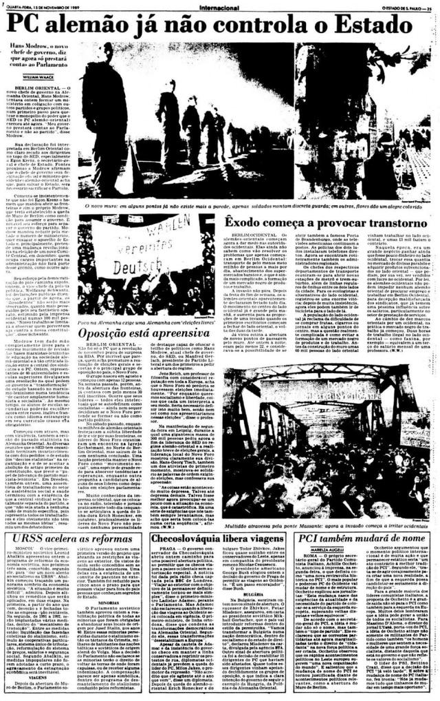 O Estado de S.Paulo - 15/11/1989