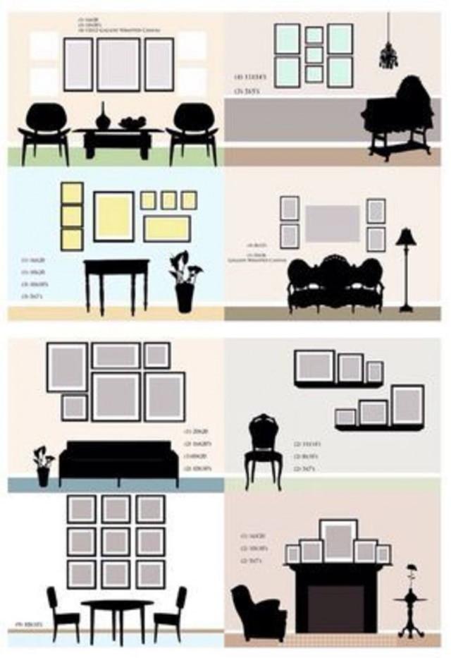 Modelo curinga para posicionar quadros em casa