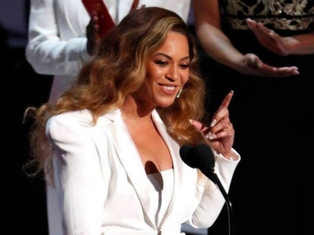 Beyoncé durante premiação em Los Angeles.