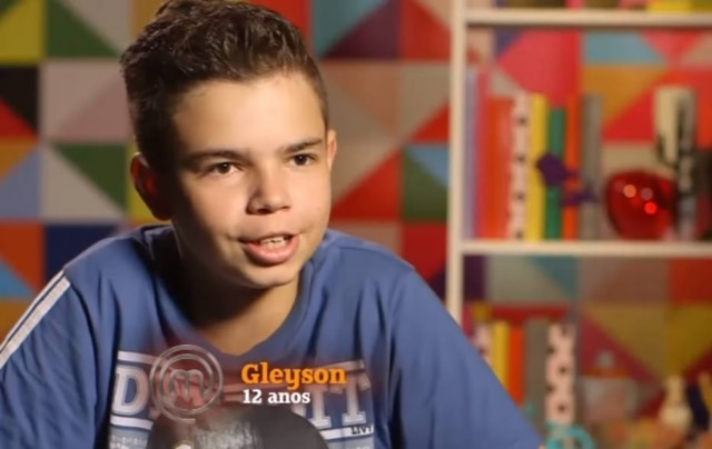 Gleyson esteve entre os participantes do 'MasterChef Júnior' em 2015