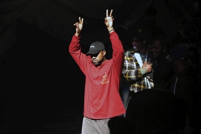 Kanye West durante o evento de lançamento da Yeezy Season 3 e do cd 'Life of Pablo'