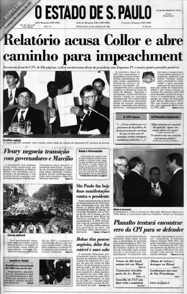 >> Estadão - 25/8/1992