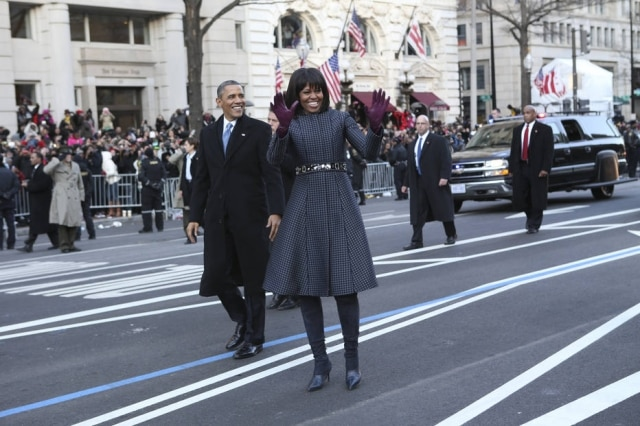 Barack e Michelle Obama em Washington, Estados Unidos.