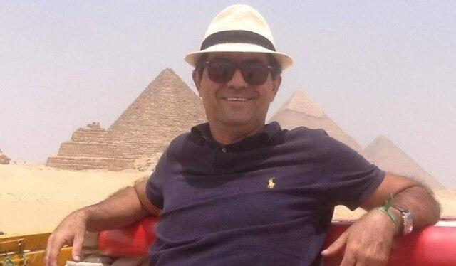 Luiz Thadeu no Cairo, Egito.