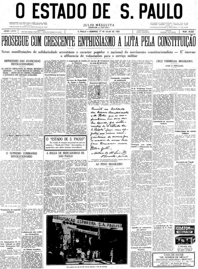 Estadão - 17/7/1932